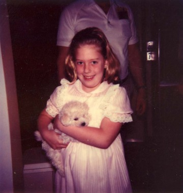 Easter, Age 8 with Bunny